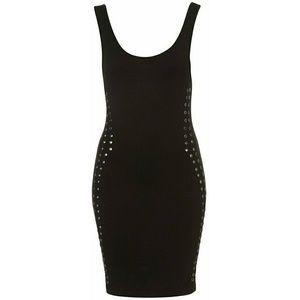 Topshop Studded Bodycon Dress